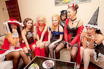 Student group sex on Halloween
