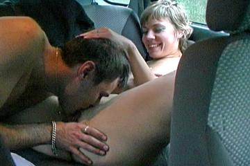 Amateur hot action in the car