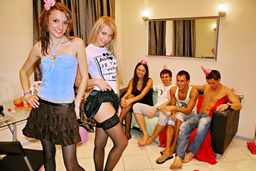 Sexy college fuck at B-day party