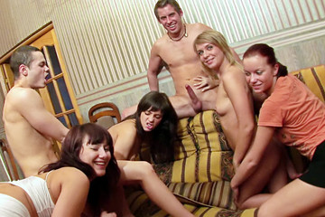 Kinky student group sex before holidays, part 6